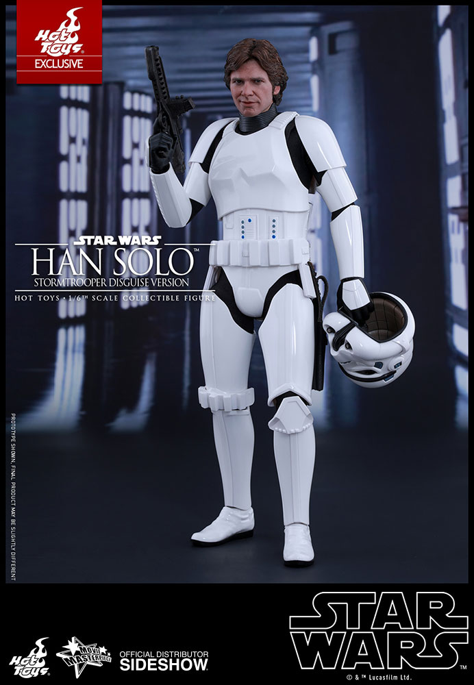 Custom Han Solo Harrison Ford Episode IV A New Hope Star Wars 1//6 head 2